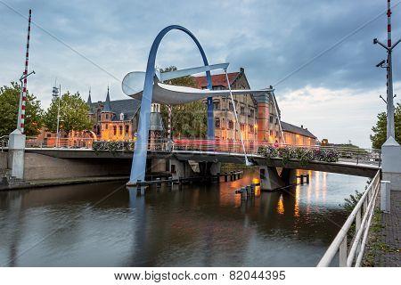 Bascule Bridge Leeuwarden Netherlands