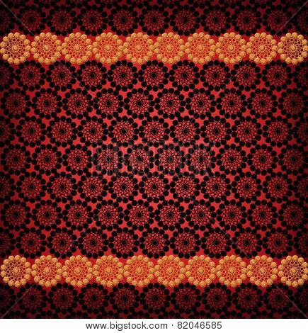Pattern For The Card Of Laces On The Red