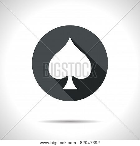 Vector Game Spade Icon. Eps10