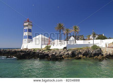 Saint Martha's Lighthouse In Cascais Portugal