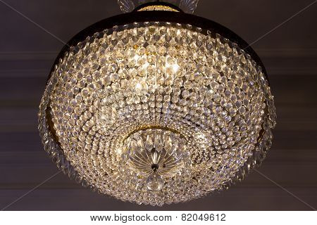 Old Glass Chandelier