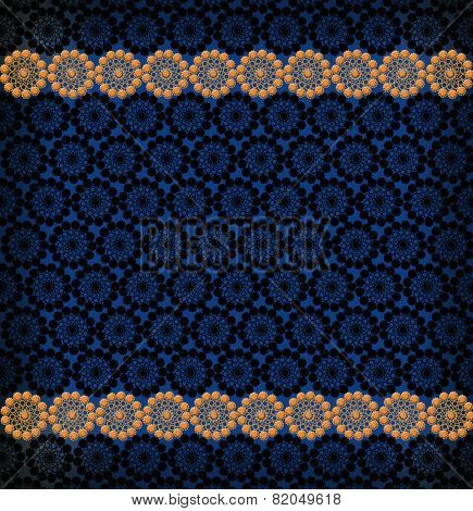 Pattern From Laces On The Dark Blue