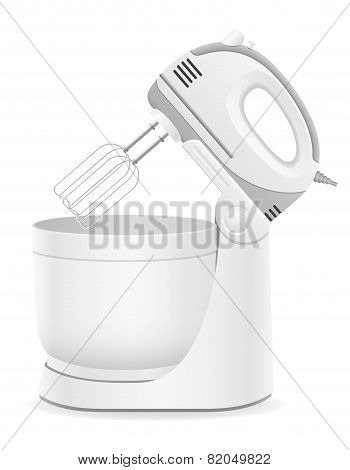 Kitchen Mixer Vector Illustration