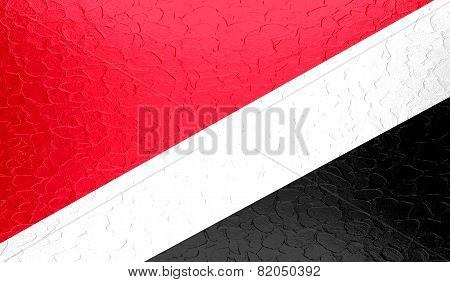 Sealand, Principality of National flag on metallic metal texture