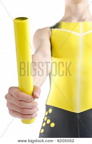 Athlete With Baton