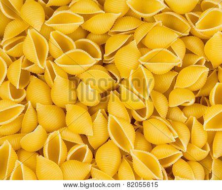Italian Pasta conchiglie background texture