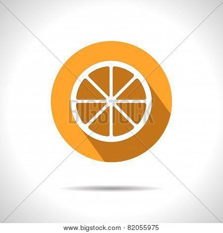 Vector Orange Icon. Eps10