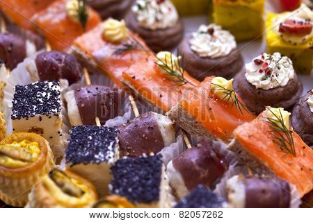 Toasts And Canapes