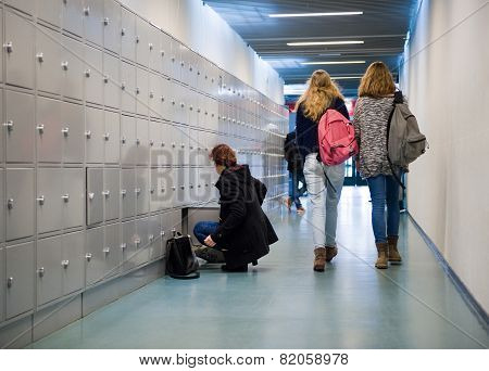 Students On High School