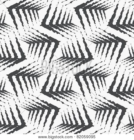 Repeating Ornament Gray Rough Shapes