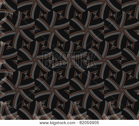 Textured Ornament With Hexagons And Stripes
