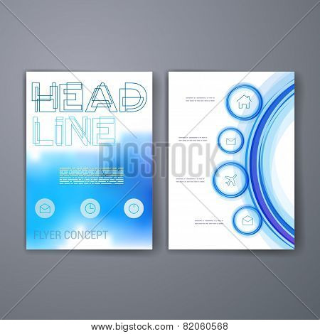 Templates. Set of Web, Mail, Brochure Design Templates. Mobile Technologies, Applications and Infogr