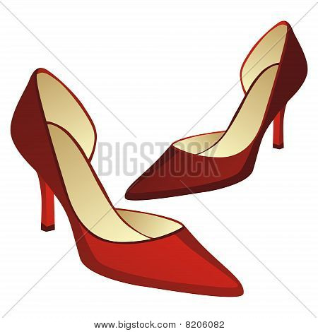 illustration of high heel pair of shoes