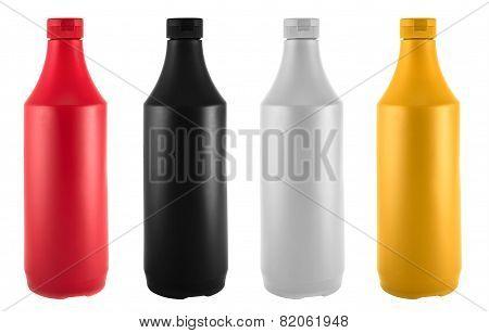Ketchup, mustard, mayonnaise and soy souce