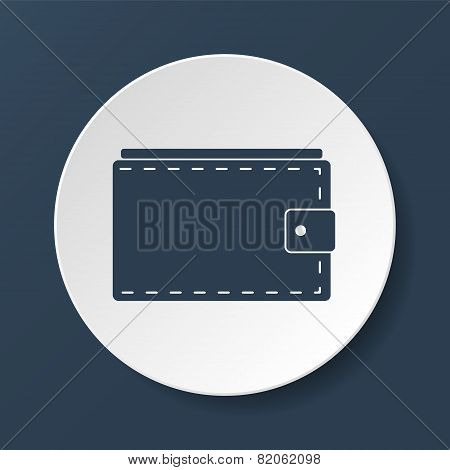 Wallet With Cash Simple Icon On White Background. Vector Illustration.