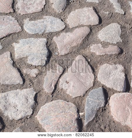 Paving stone surface as abstract background