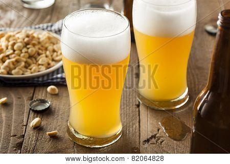 Resfreshing Golden Lager Beer