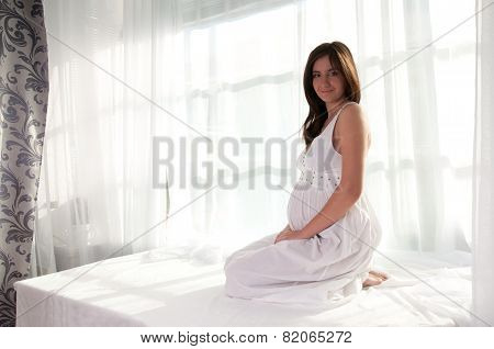 Pretty Pregnant Woman Portrait