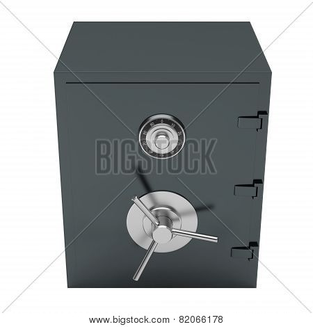 Closed Bank Steel Safe.