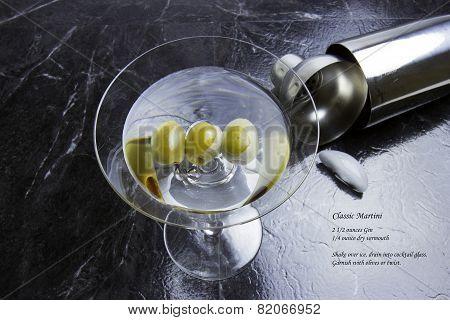 Classic Martini With Recipe