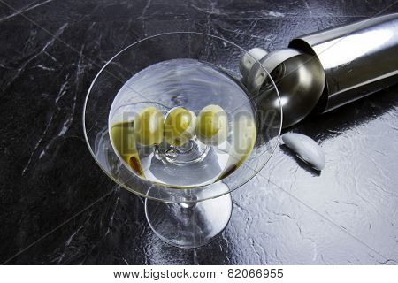 Three Olive Martini