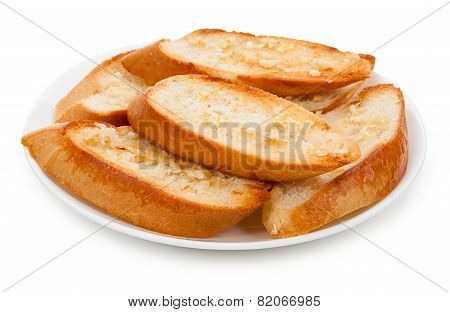 Baton Buttered And Garlic On A Plate