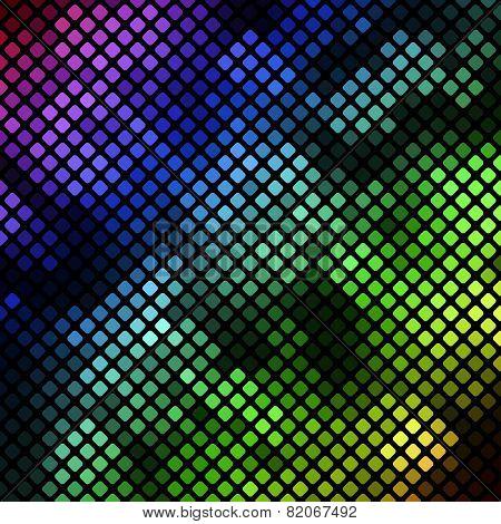 Bright diagonal mosaic in bokeh effect