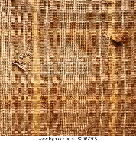 Brown plaid cloth texture