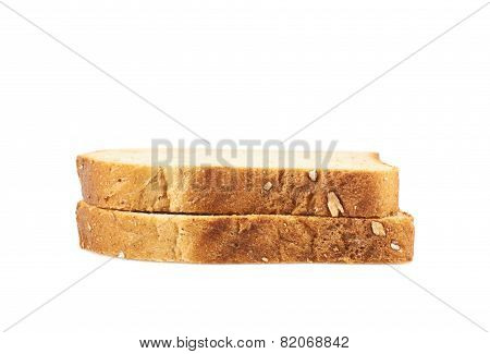 Two toast bread slices