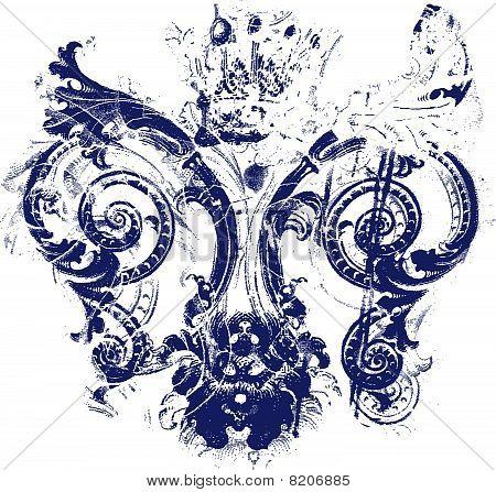 fleur de lis symbol texture