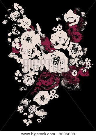 fancy rose abstract illustration