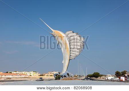 Sailfish Statue In Umm Al Quwain