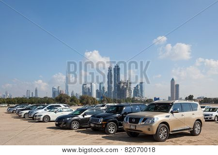 Parking Lot In The City Of Dubai