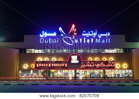 Dubai Outlet Mall At Night