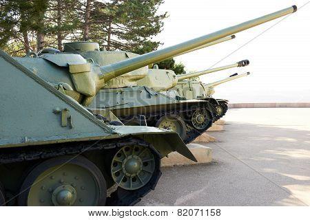 Row Of Tanks