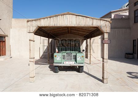 Old Land Rover At The Museum Of Ajman