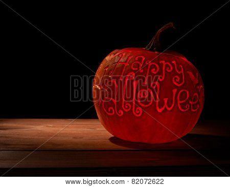Happy Halloween pumpkin composition