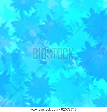 Blue Leaf Shadow Pattern