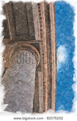 Painted saint peter columns, Rome