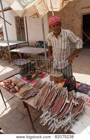 Selling Fish In Yemen
