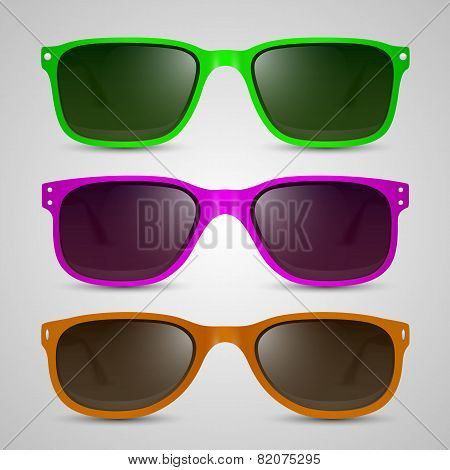 Sunglasses color. Vector