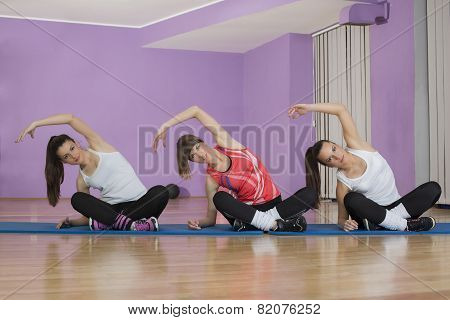 Aerobic and fitness girl