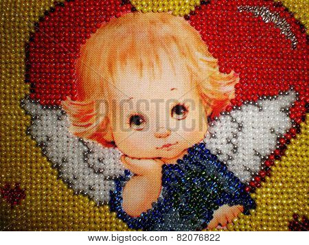 Angel beads embroidery