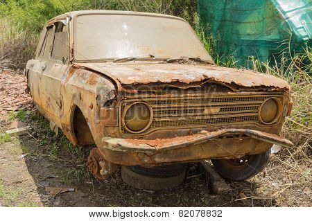 Abandoned Rusty Car