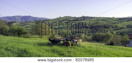 Oltrepo Pavese countryside panorama. Color image
