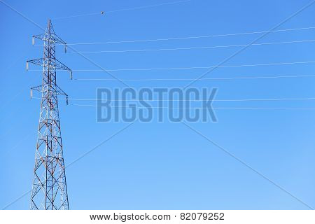 Electrical power line. Color image