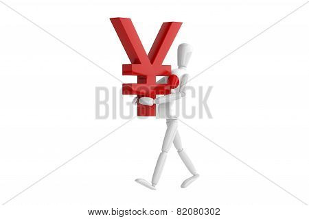Japan Yen Currency White Man
