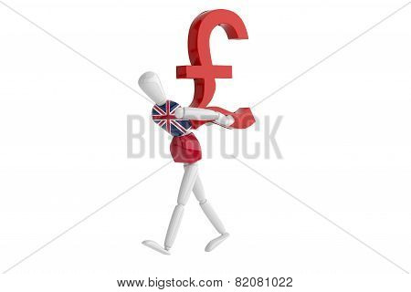 English Pound Currency White Man