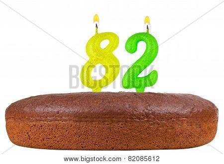 Birthday Cake Candles Number 82 Isolated
