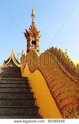 Golden Naga Stair